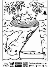Coloring Sailboat Quiver Fun Votes sketch template