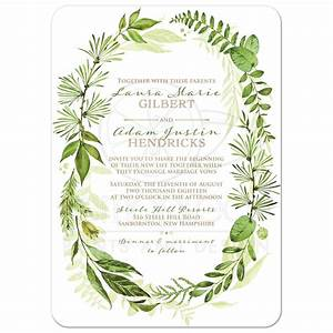 greenery foliage wedding invitation watercolor leaves With wedding invitation with watercolor leaves and butterflies