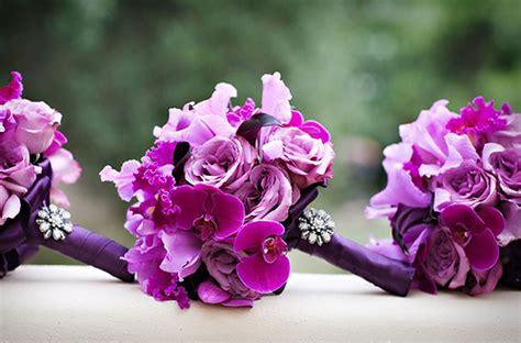 pink  purple weddings
