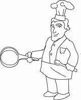 Chef Clipart Line Coloring Clip Sweet Sweetclipart Webstockreview sketch template