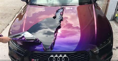 the peelable car paint lets you change your car s color