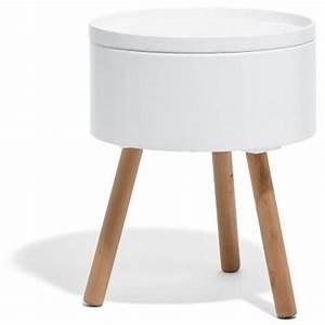Table De Chevet Ronde : table de chevet coffre scandinave table de chevet coiffeuse chambre bureau mobilier ~ Teatrodelosmanantiales.com Idées de Décoration