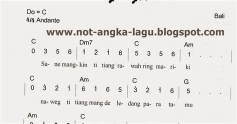 not angka lagu peuyeum bandung not angka janger kumpulan not angka lagu