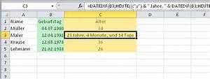 Einheiten Berechnen : so kann excel das alter berechnen giga ~ Themetempest.com Abrechnung