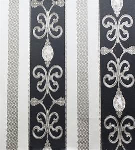 Hermitage 8 barock satin tapete 8913 34 891334 schwarz for Balkon teppich mit hermitage 8 barock satin tapete