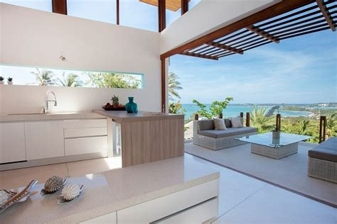 modern tropical kitchen design visual treat 20 captivating kitchens with an view 7779