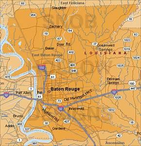 East Baton Rouge Parish (county) Louisiana color map