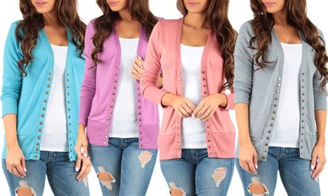 Women's Button Down Spring Cardigan (plus Sizes Available)