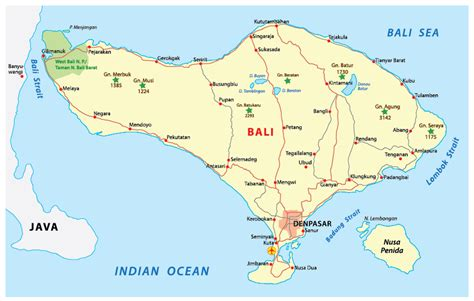 map  bali   surrounding islands printable