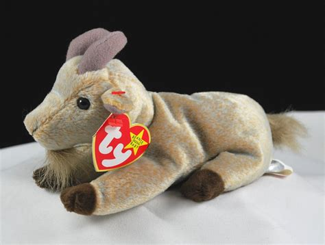 ty goatee  mountain goat retired beanie baby