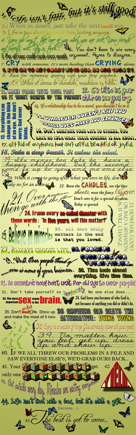 45 Life Lessons By Catherineelenore On Deviantart