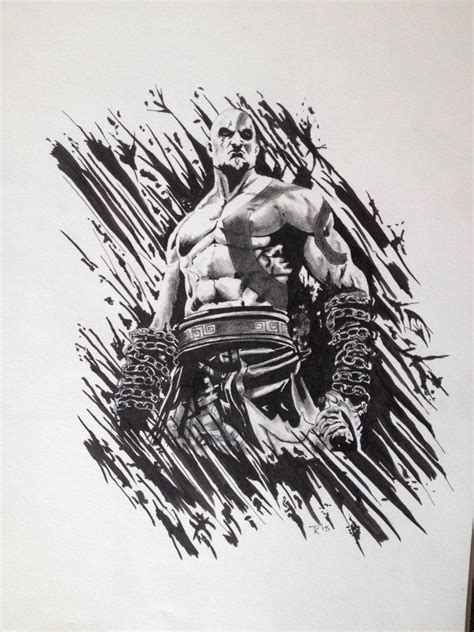 God Of War Kratos A Drawing I Did Recently Based On The