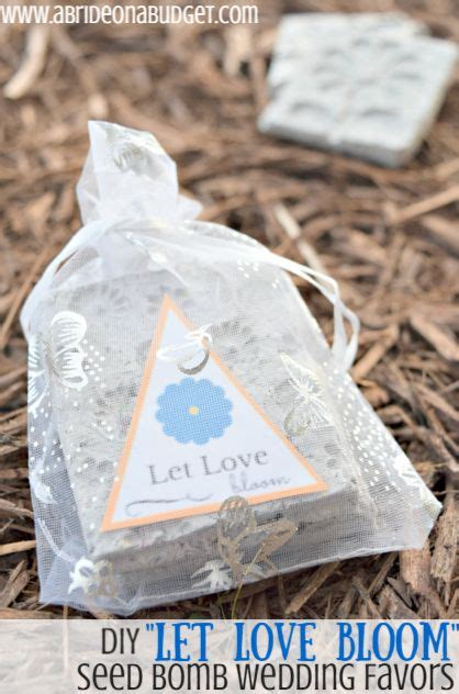 diy quot let bloom quot seed bomb wedding favors wedding seed bombs and wildflower seeds