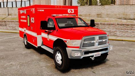 Dodge Ambulance by Dodge Ram 3500 2011 Lafd Ambulance Els For Gta 4
