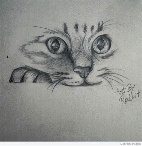 pencil sketch  cute cat desipainterscom