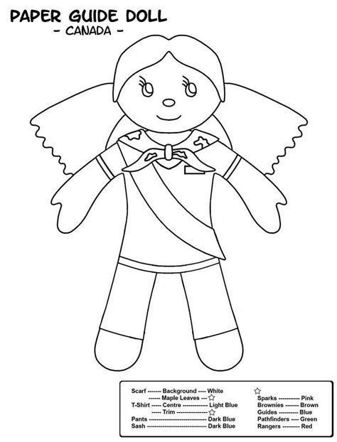 canadian colouring sheet brownies girl guides
