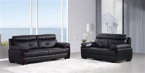 mackenzie 435005 sofa loveseat in black leather by new spec