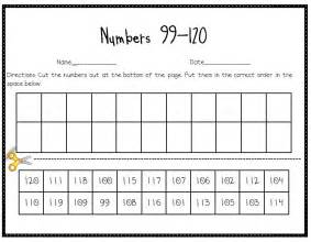 Writing Numbers to 120 Worksheets