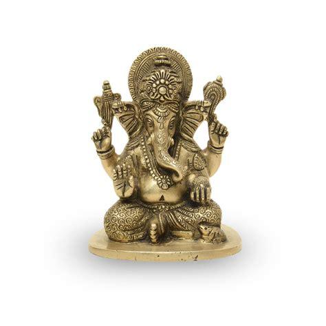 CraftEarth Brass Sitting Ganesha CRAFTEARTH