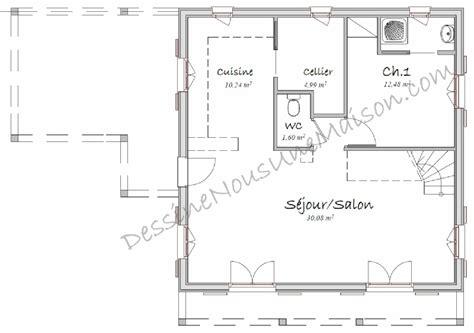 plans cuisine ouverte plan maison cuisine ouverte cuisine en image