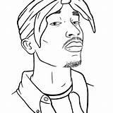 Tupac 2pac Cardi Gangster Shakur Xcolorings 드로잉 Depuis sketch template