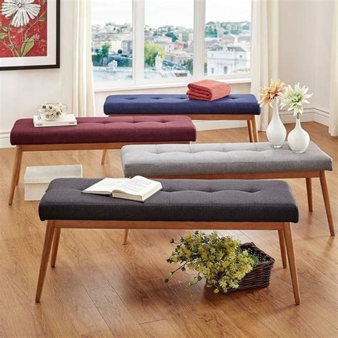 Modern Living Room Upholstered Bench  Best Site Wiring