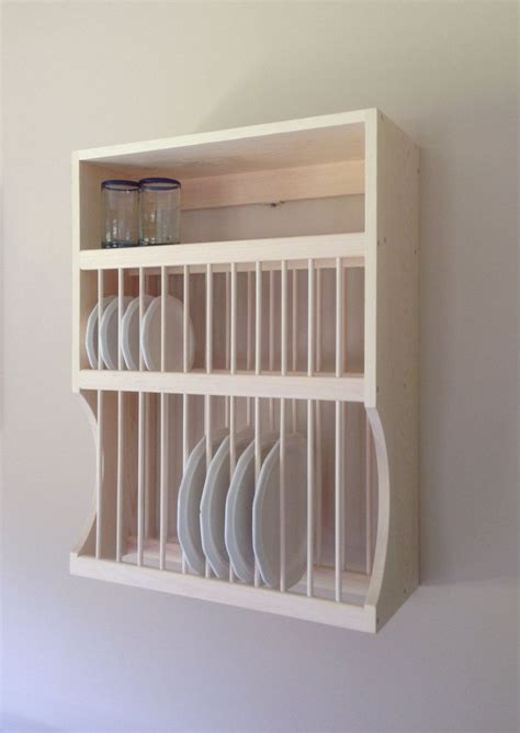 large  small plate rack  shelf  nicoletwoodproducts    plate racks