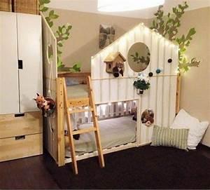 Lit Cabane Bebe : fabriquer une cabane lit ~ Teatrodelosmanantiales.com Idées de Décoration