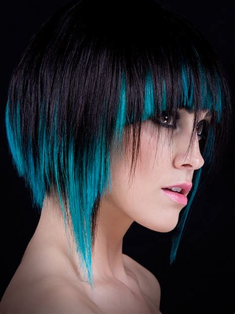 Cool Color Hairstyles by Black Hair With Blue Highlights More About Hairstyles