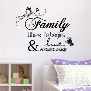 Family Vinyl Wall Quote Decal Stickers For Home Decor Wall