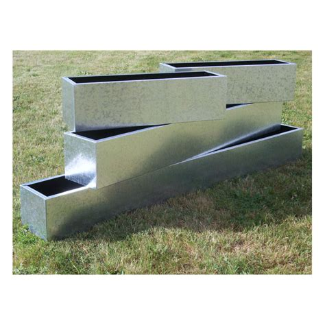 galvanised trough planters window boxes  potstorecouk