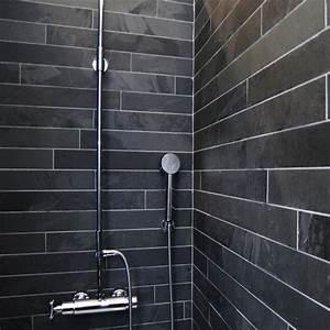 Dalles Carrelage Ardoise Noire 60x7 Indoor By Capri