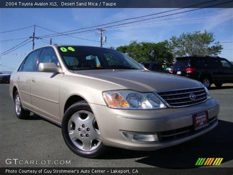 2004 Toyota Avalon Xls by Desert Sand Mica 2004 Toyota Avalon Xls Taupe Interior