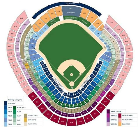 yankee stadium seating chart  york yankees  seat views tickpick
