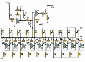 10 Band Graphic Equalizer Circuit For Home Theater