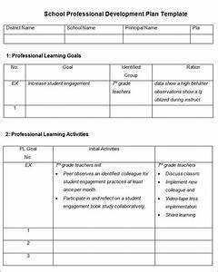 Professional development plan template 10 free word for Professional development plan sample templates
