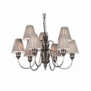 Large pewter ceiling light doreen decorative chandelier