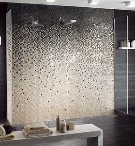 revetement mural salle de bain 55 carrelages et With salle de bain design avec décoration murale libellules