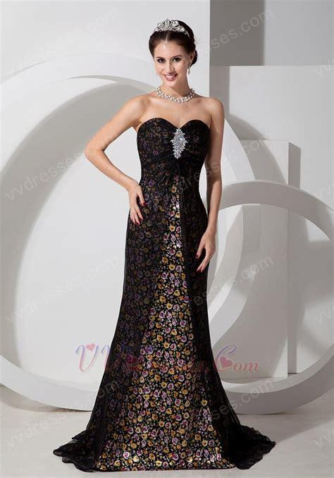 designer evening gowns empire waist printed top designer evening dress for