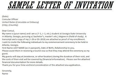 sample letter  invitation