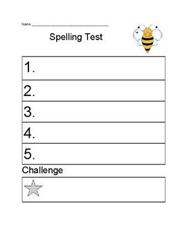kindergarten amp 1st grade spelling test form by 354 | original 3540386 1