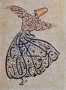 Islamic, Calligraphy, Folklore, Figure, Mosaic, Design