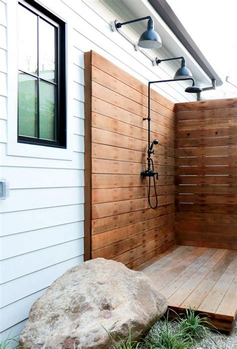 best 25 outdoor showers ideas on pool shower