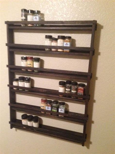 Big Spice Rack by Large Rustic Wood Spice Rack