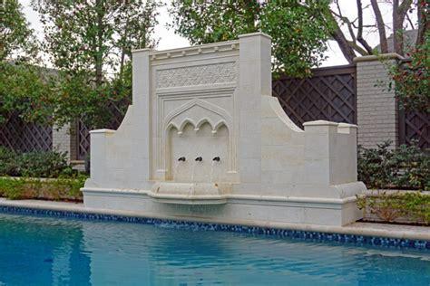 custom gothic pool fountain modern home  highland park