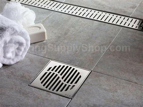 aco shower drain quartz by aco shower point 6 inch square shower bathroom