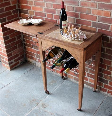 sewing machine desk ideas bar cart wine bar repurposed from old sewing table