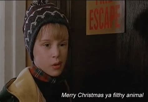 Merry Christmas You Filthy Animal Meme - funny christmas gif tumblr