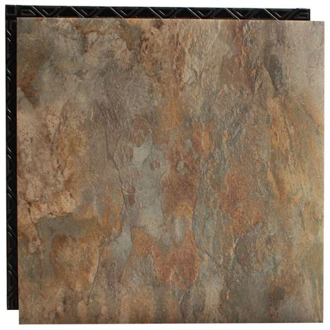 home depot flooring vinyl tile trafficmaster groutable 18 in x 18 in light travertine peel and stick vinyl tile 36 sq ft