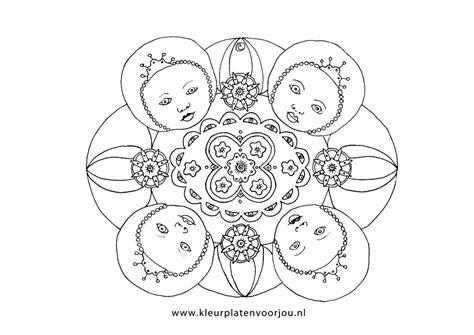Kleurplaat Mandala Kleuters by Baby Prinses Mandala Kleurplaten Voor Jou